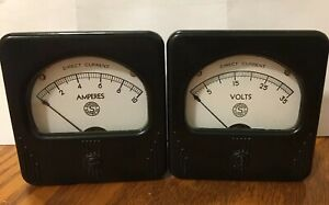 Simpson Electric Dc Ammeter And Voltmeter
