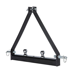 3 Point 2 Receiver Trailer Hitch Cat 1 Tractor Tow Hitch Drawbar Adapter Mps