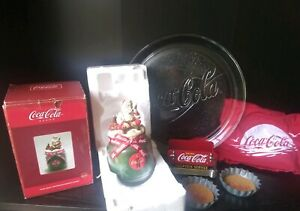 Coca-Cola LOT Plate Coasters Napkin Holder Plate Boxers Candle FREE SHIPPING