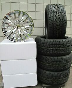 22 Ram 1500 2019 6 Lug Chrome New Set Of Wheels And Tires 198c C