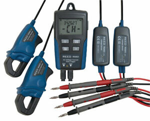 Reed Instruments R5003 Ac Current Voltage Data Logger 2 channel W Software