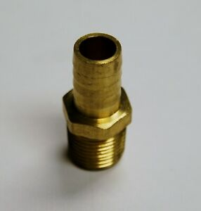 Brass Fittings Brass Male Hose Barb Male Pipe Size 1 2 Hose Id 3 4 Qty 25