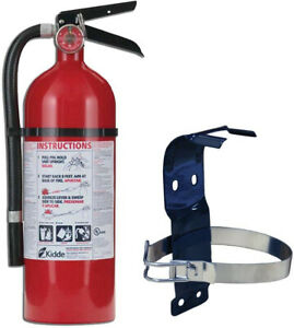 Fire Extinguisher Bundle With 5 Lb Mounting Bracket Safety Rechargeable