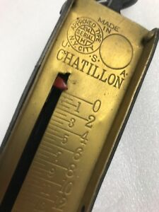 Chatillon Brass Cast Iron Vertical Hanging Spring Scale