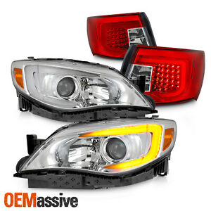 c bar Headlights fit 08 11 Impreza Wrx Led Head Tail Lens Housing Set