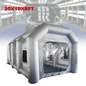 Spray Booth Inflatable Tent Car Paint Portable Cabin W Air Filter Nets 6x3x2 5m