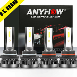 9005 9006 Combo Led Headlight 240w 30800lm High low Beam 6000k White 4 Bulbs Kit