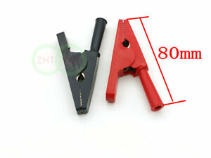 New Copper Alligator Clip For 4mm Banana Plug Test Probe Max 2000v 50a Lot