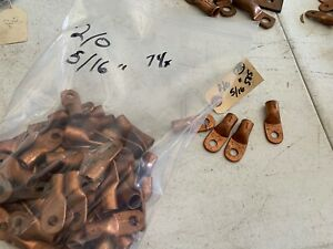 74x Copper Solder Terminal Lugs S 150 a 2 0 Wire 5 16 Hole Nos