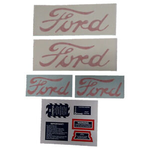 Ford 2n 8n 9n 10 Piece Mylar Decal Set 1947 1949 Hood Fender 8n5052dp