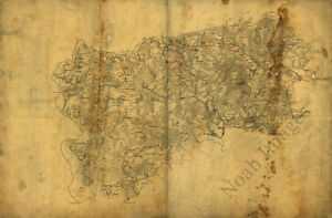 Map Of Chesterfield County Virginia C1864 36x24