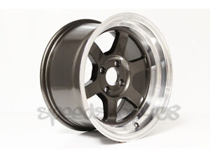 Rota Grid V Wheels Royal Gunmetal 15x8 0 4x100 E30 Xb Civic Integra Miata