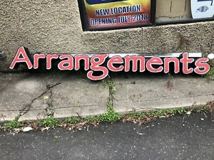 Edible Arrangements Outdoor Business Shop Store Bargain Flower Lighted Sign