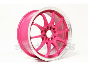 Rota Wheels Fighter 16x7 40 5x100 5x114 Royal Pink For Prelude Tc Prius Accord