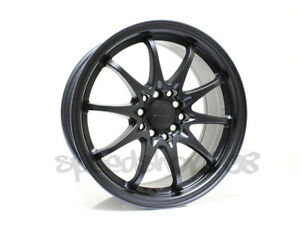 Rota Wheels Fighter 16x7 40 5x100 5x114 Flat Black For Prelude Tc Prius Accord