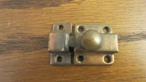 Vintage Hoosier Medicine Cabinet Cupboard Door Slide Latch Catch Antique Copper