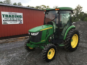 2017 John Deere 4066r 4x4 Hydro Compact Tractor W Cab Only 1800hrs Coming Soon