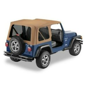 Jeep Wrangler Tj Replacement Soft Top W Tinted Windows Color Spice