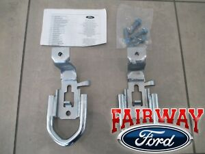 19 20 Ranger Oem Ford Parts Chrome Tow Hooks Pair W Hardware 4x4 Model Only
