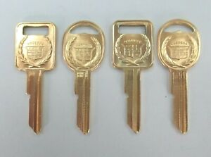 Vintage Cadillac Matte Yellow Gold Plated 4 Keys Case A b 1967 1971 1975 1979