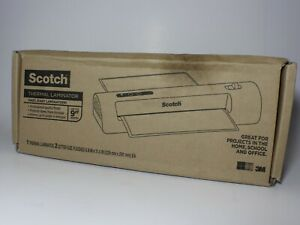 Scotch Thermal Laminator 2 Letter Size Pouches Tl901c New Open Box