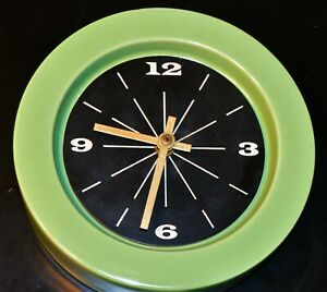 Mid Century Lime Green Vohann Of California Charles Chaney Wall Clock T3