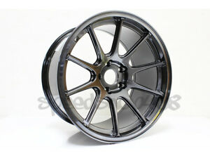 Rota Strike Wheels Hyper Black 18x10 15 5x114 3 For Evo Wide Body Sti Wrx 350z