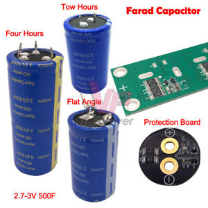 1 4pc500f Flat Foot four two Horns 2 7 3v Super Farad Capacitor protection Board