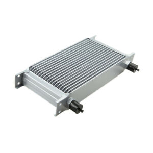 Sale 19 Row 10an Aluminum Engine Transmission Oil Cooler Silver Us Ship
