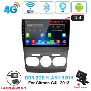 4g 2 32gb Android 8 1 Car Radio Player Multimedia Wifi Video Gps For Citroen C4l