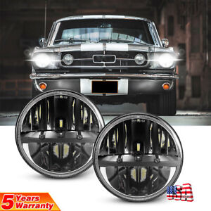 7 Round Led Headlights High Low Beam For Jeep Wrangler Lj Cj Jk Tj Jku 97 2017