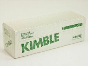 Kimble 4 Cases 4000 Count Disposable Borosilicate Glass Culture Tubes 10x75mm
