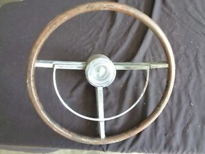 1961 1962 1963 Lincoln Continental Steering Wheel Horn Ring Center Cap Burled