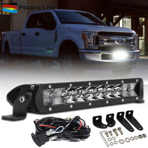 10 Led Light Bar Spot Flood Combo Offroad Headlights For 2017 up Ford F250 F350