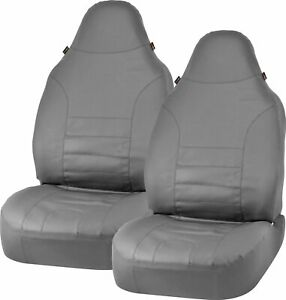 Bell Automotive Products Universal Bucket Seat Cover Sport Leather Gray 40347