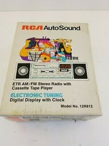 Vintage Nos Rca 12r481 Car Stereo Am Fm Stereo Radio Casette Player New In Box