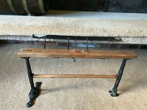 Antique Butcher Paper Holder Cutter Star Cupples Co St Louis Cast Iron Wood