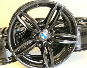 19 Inch 04 19 Bmw 351m M5 M6 Factory Oem Wheels Rims Gloss Black Staggered F12