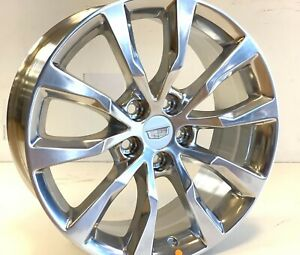 19 Inch Cadillac 4 Ct6 Xts Cts 08 19 Polished Rim Wheel 4775 Oem Factory Single