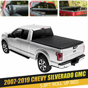 Fit Chevy Silverado 1500 2500 3500 Gmc Sierra 5 8ft Leather Tonneau Bed Cover