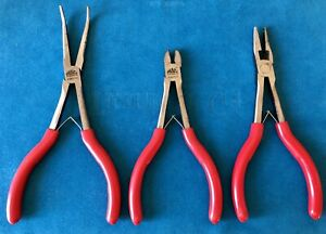 Mac Spring Plier Set Wire Snips Needle Nose Bent Needle Nose P301711 13 14
