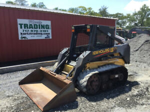 2003 New Holland Ls170 Track Skid Steer Loader W Only 1400hrs Tires Wheels