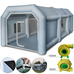 Inflatable Spray Booth Paint Tent Car Paint Capacious Filter System 2 Blowers