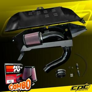 For 14 16 Bmw 228i F22 2 0l 4cyl Black Cold Air Intake K N Air Filter
