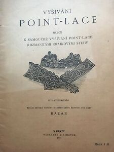 1901 Point Lace Instruction Czechoslovakia 71 Illustrations Rare In Czech