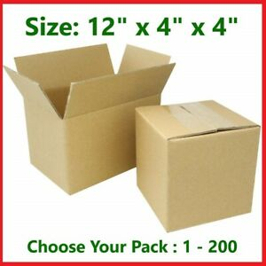 12x4x4 Cardboard Packing Mailing Gift Moving Shipping Boxes Corrugated Box Carto