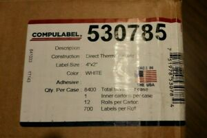 Lot Of 10 Rolls Of 4 X 2 Direct Thermal Labels Compulabel 530785 White New
