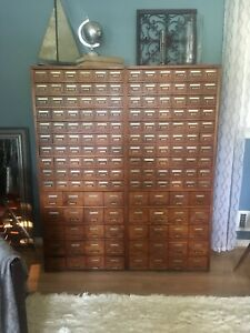 160 Drawer Library Card Catalog Cabinet