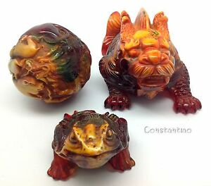 Imperial Gift Set 12 Zodiac Amber Ball Amber Dragon Fish And Lucky Toad