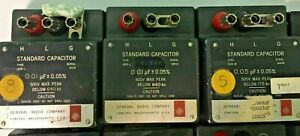lot Of 14 General Radio Standard Capacitor Model 1409 g Through 1409 x r408